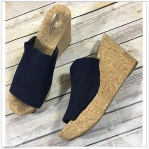 Lucky Brand Slip On Cork Platform Wedge Heel 9.5 M